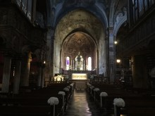 Inside the Monza Cathedral