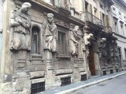These gentlemen keep watch around the corner from the Piazza la Scala