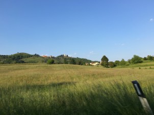 Another view from the road back to Poggio Verde from Montevecchia