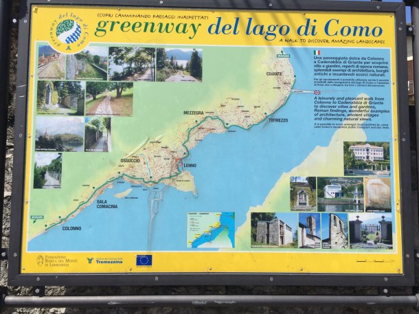 A map of the Como Greenway