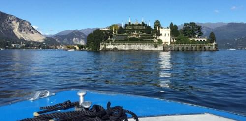 Approaching Isola Bella and the Palazzo Borromeo