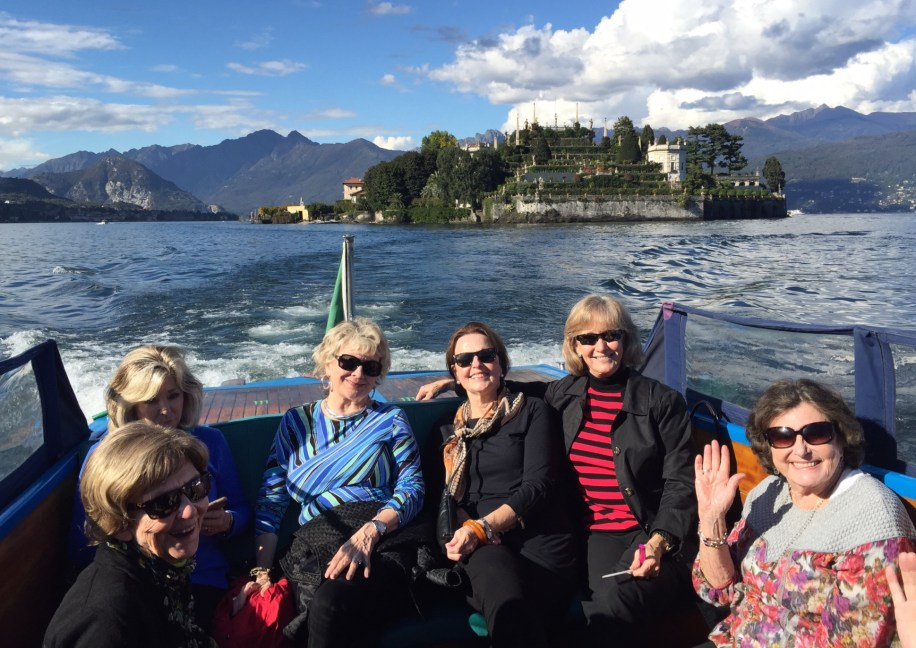 Taking the boat back to Stresa (Lake Maggiore)