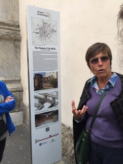 Francesca telling us about the Roman walls
