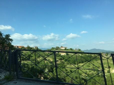 Turning hilly toward Bergamo