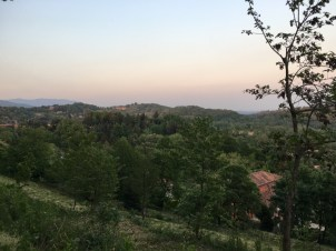 Looking east from the Perimeter Walk at Poggio Verde Country Villa