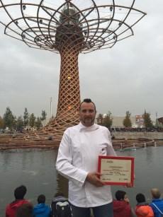 Antonio Sacco primo posto per ideazione pizza a Expo 2015