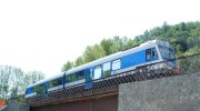 treno sul ponte stazione san pietro apostolo ferrovia della calabria