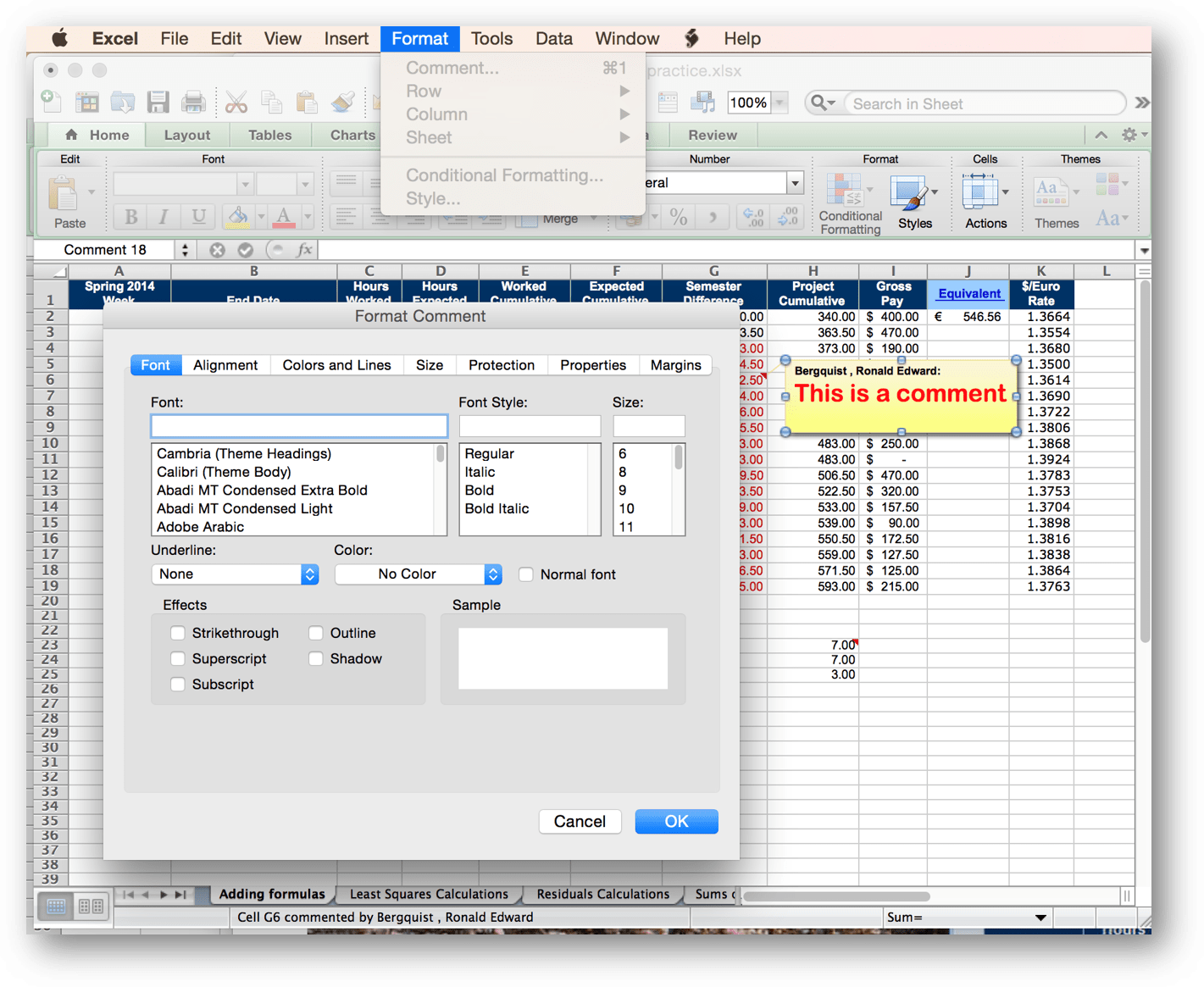 Inls161 001 Fall Setting Up A Spreadsheet For Your Needs