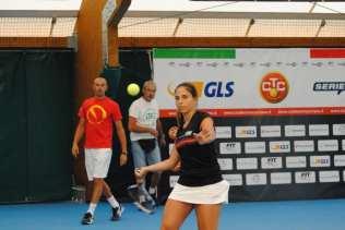 Giulia Sussarello ha vinto il suo primo match del campionato nella sfida casalinga della sesta giornata contro il Tc Prato