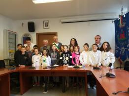 consiglio ragazzi cislago 2018 con sindaco cartabia e marzia campanella