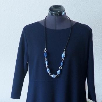 7. Kautschukband, Perlen auf Aludraht, Aluringe