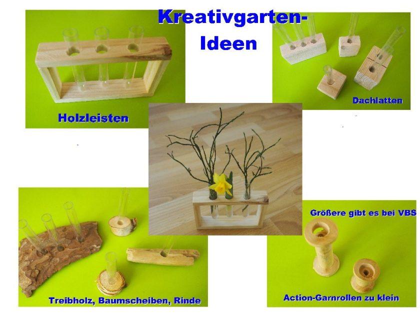 Reagenzglas-Vasen-Ideen