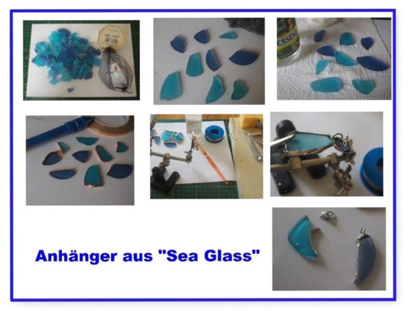 """anhänger aus """"Sea Glass"""""""
