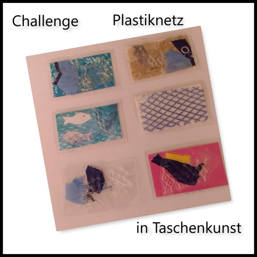Plastiknetz in Taschenkunst