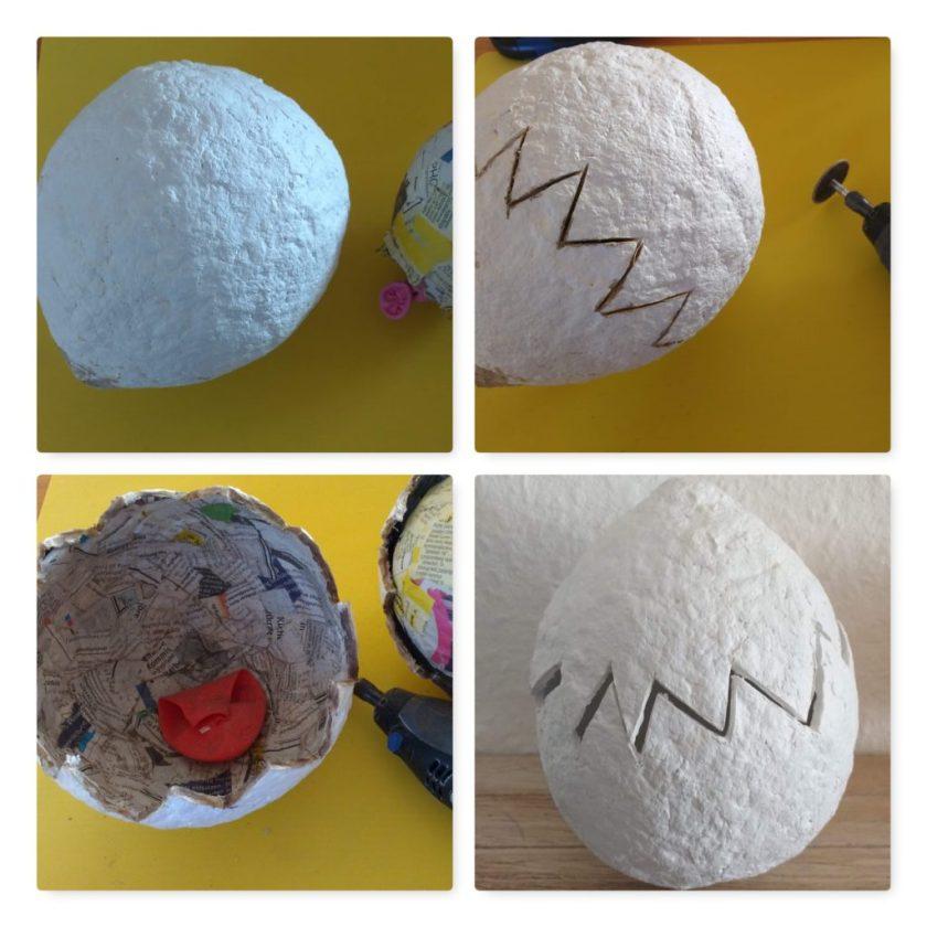 Ü-Ei aus Pappmaschee
