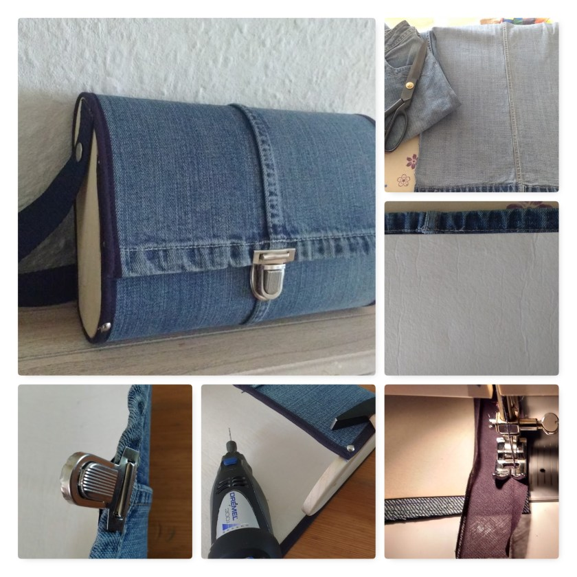Jeans-Holz-Tasche