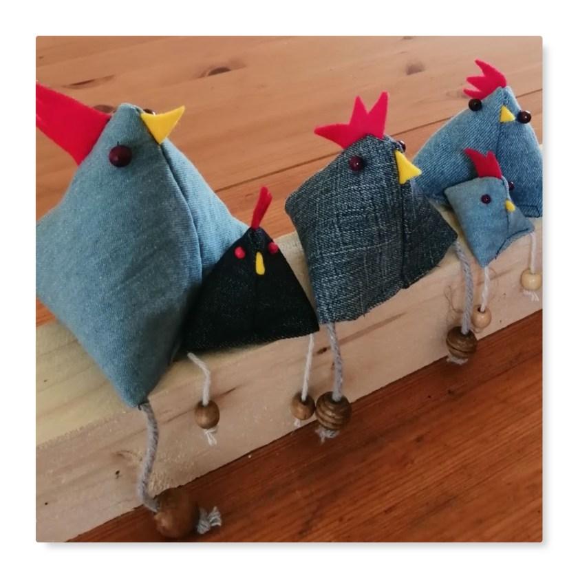 Jeans-Hühner
