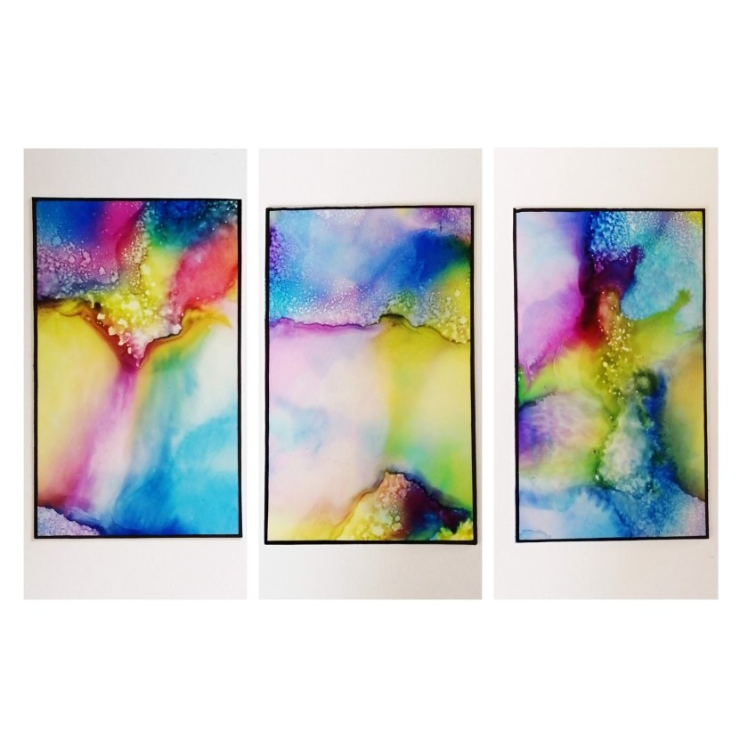 Alcohol Ink - Experimente 3
