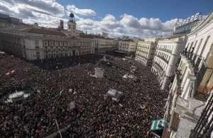 Manifestazione Podemos a Madrid