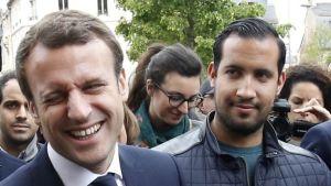 Macron-e-Benalla-nel-maggio-2017-quando-il-sig_-Benalla-era-a-capo-della-sicurezza-del-candidato_0