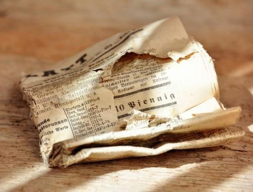 giornale, vintage, comunicare, condividere informazioni, valori