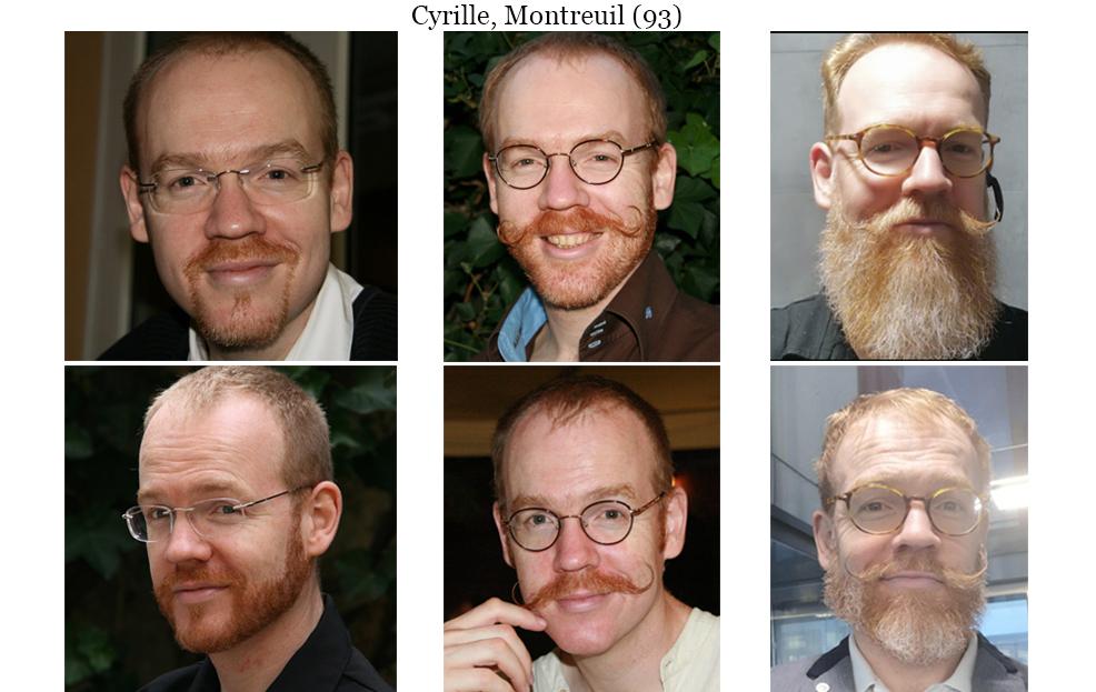 Cyrille avant et après la pousse de sa barbe et de sa moustache