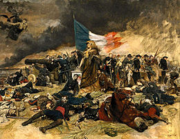 Assedio di Parigi in un olio su tela di Ernest Meissonier