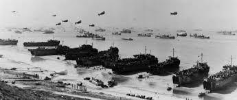 Navi alleate durante lo sbarco in Normandia