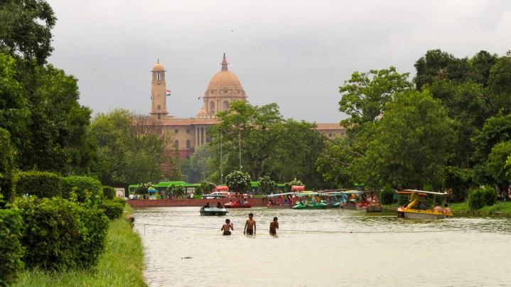 Rajpath area, menant du palais présidentiel à la porte de l'Inde