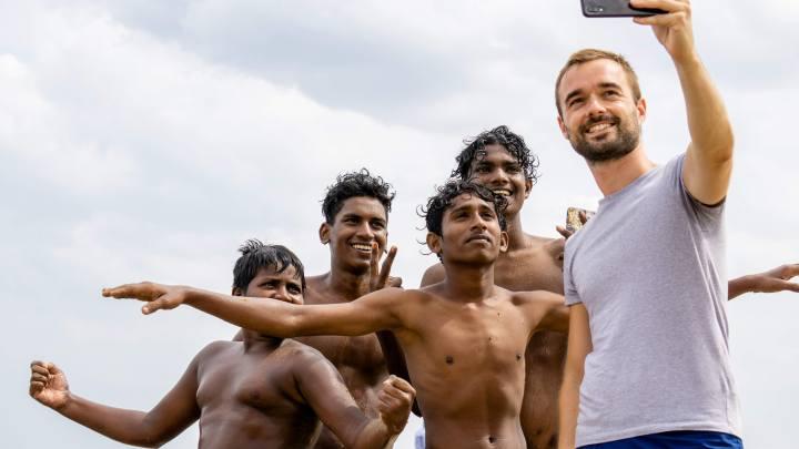 Selfie avec des jeunes de Chennai