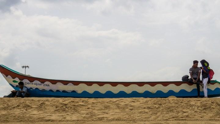 Sur la plage de Chennai