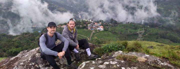 Sur une montagne près de Munnar