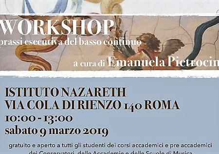 workshop basso continuo Pietrocini Musica Nazareth