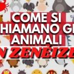 Animali in genovese