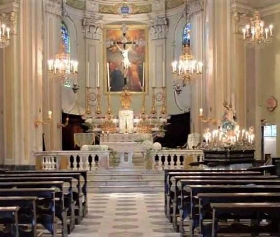 Santuario della Madonna di Nozarego, interno