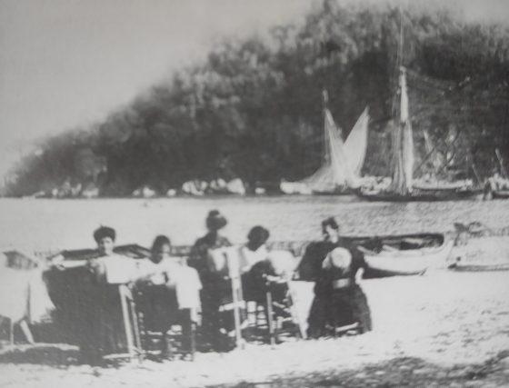Portofino, donne al tombolo, anni '40