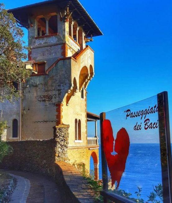 Castello Odero, Portofino, passeggiata dei baci