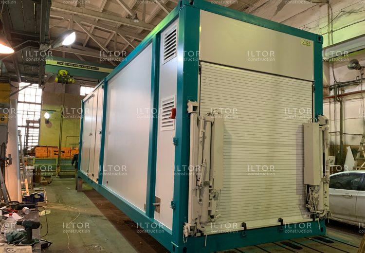 Раздвижной кузов контейнер переменного объема
