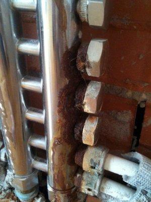 corrosione collettore acciaio inox