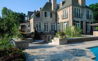 kaufman pool deck and house