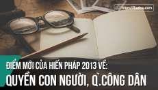 """Điểm mới của Hiến pháp 2013 về """"quyền con người"""" và """"quyền công dân"""""""