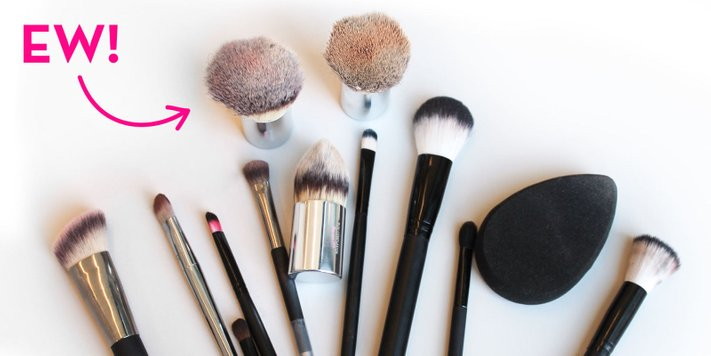 berus makeup kotor pernuh bakteria boleh membuatkan kulit dapat penyakit