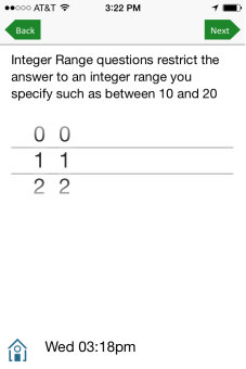 Restricted integer range