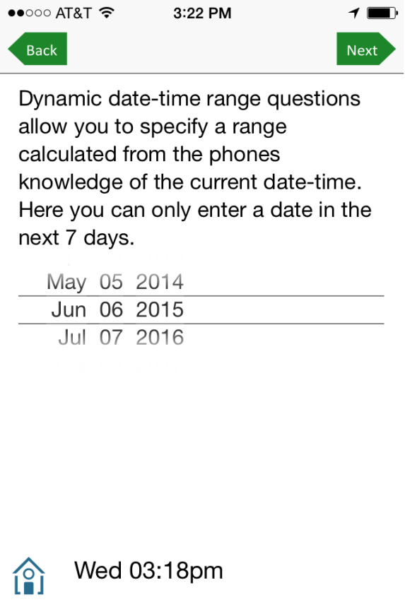 Restricted date range
