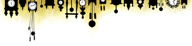 Relojes en silueta