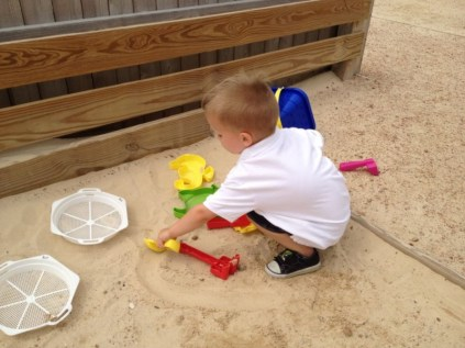 Logan in the Sand