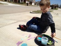 DIY Sidewalk Paint