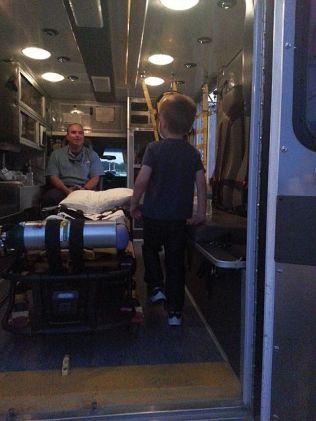 Logan in the Ambulance