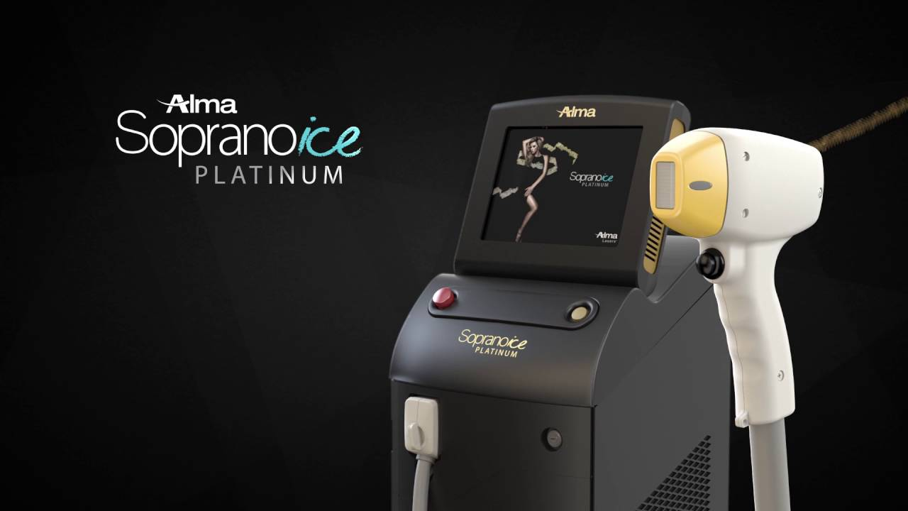 A picture of the Soprano ICE Platinum Laser Hair Removal System