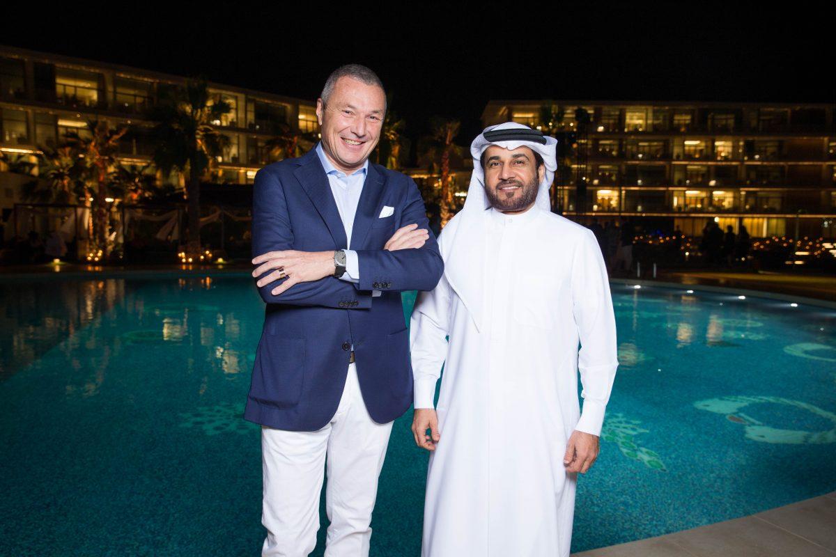 Jean-Christophe BABIN. H.E Abdulla Al HABBAI. . Bulgari Resort Dubai Opening. U.A.E. 12/2017 © david atlan
